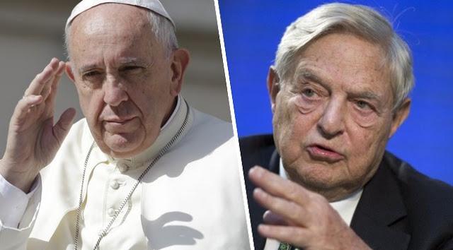 Pope Francis and George Soros (Válasz.hu)