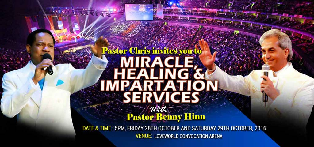 Pastor Chris and Pastor Benny Hinn (A Shouts blog, Youtube,15 October 2016)