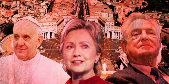 Pope Francis and Hillary Clinton an George Soros (Tutiblog = Pesti Srácok)