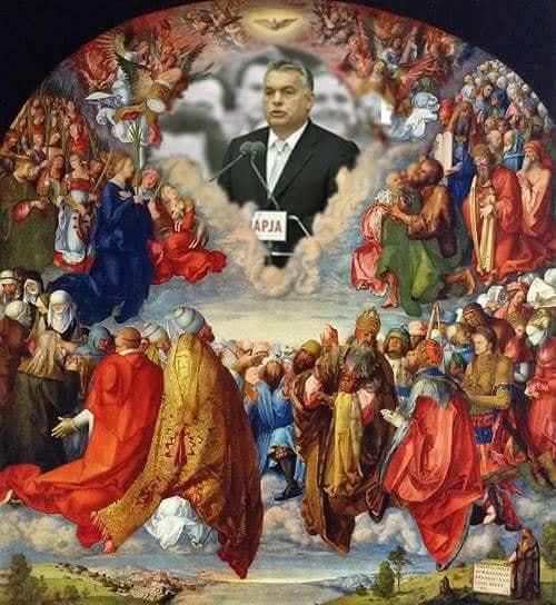 Best of Viktor: Orbán Viktor mint Szentháromság imádása (Dürer Lanauer-oltára alapján)