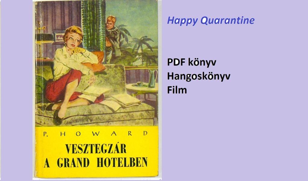 Vesztegzár a Grand Hotelben - régi kiadás címlapja